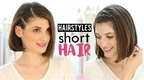 easy hairstyles for short hair tutorial step by step hairstyles for short hair tutorial youtube