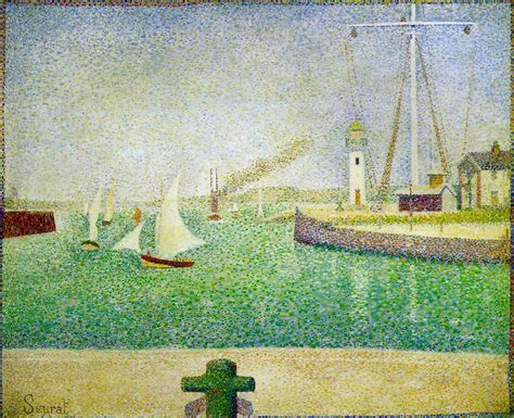 georges seurat most famous paintings port of honfleur 1886 georges seurat wikiart org