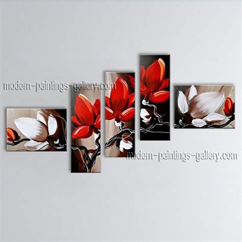 Paintings For Living Room Feng Shui Painted Abstract Floral Painting On Canvas