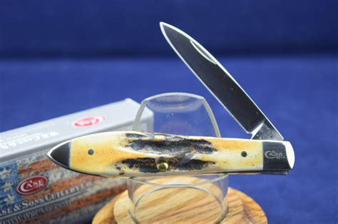 blue creek cutlery burnt stag teardrop tb51028ss