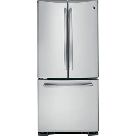 ge stainless steel door refrigerator shop ge profile 19 5 cu ft door refrigerator with