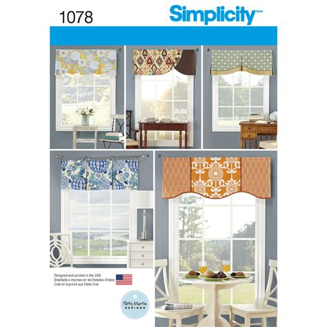 Home Decorating Catalogs pattern for valances for 39 1 2 quot wide windows simplicity