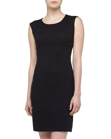 sleeveless knit dress st sleeveless santana knit sheath dress in black