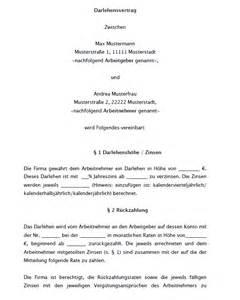 Mahnung Darlehensvertrag Muster Arbeitgeberdarlehensvertrag Vorlage Zum