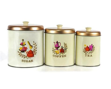 vintage kitchen canister set vintage kitchen canister set americana design 1960s