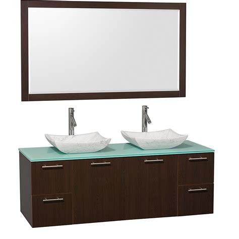 vanity top for vessel sink 60 60 quot amare vessel sink vanity espresso bathgems com