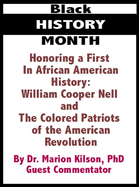 the colored patriots of the american revolution books the black commentator black history month honoring a