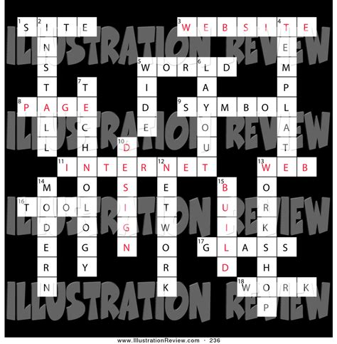 crossword clue for layout illustration of a web design vocabulary words completed
