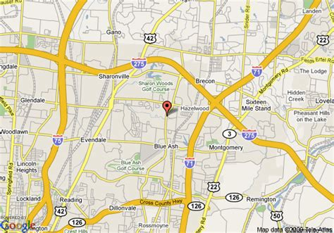 Comfort Suites Blue Ash Map Of Comfort Suites Blue Ash Cincinnati
