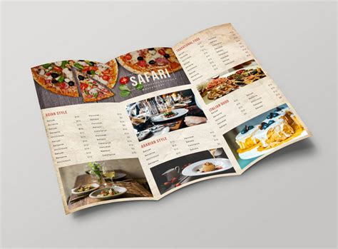 3 fold menu template 50 free psd restaurant flyer menu templates