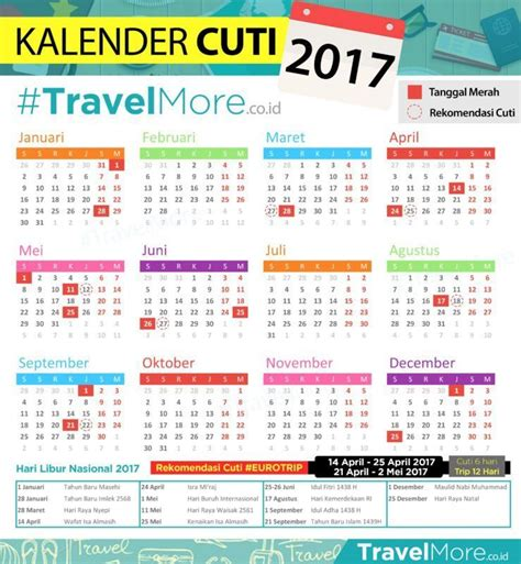 Kalender 2018 Dan Tanggal Merahnya Asyik Ada 11 Weekend Di 2017 Mendatang Saatnya