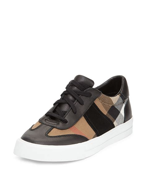 burberry sneakers lyst burberry longsley check low top sneaker in black