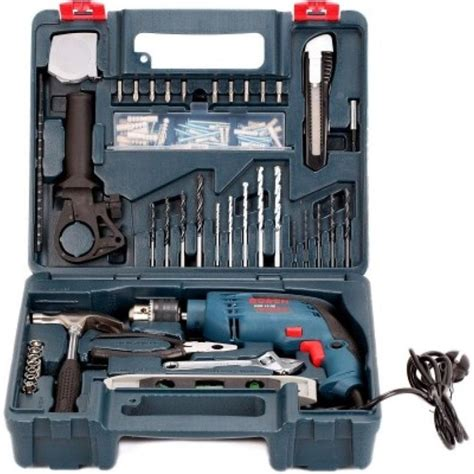 Bosch Mesin Bor Tembok Set Gsb 1300 bosch gsb 13 re impact drill 13mm complete set bor tembok