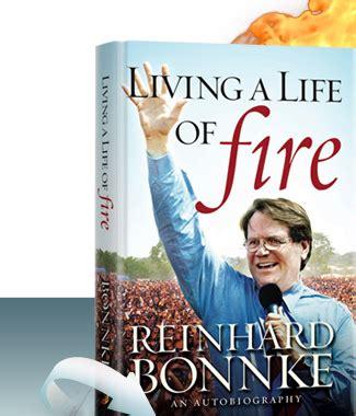 living a life of fire an autobiography by reinhard bonnke