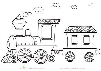 coloring pages of trains for preschoolers toy train coloring page worksheets toy and craft