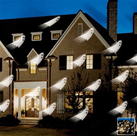 christmas lights projector on house display ghosts and goblins on your house popsugar tech