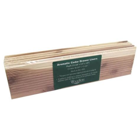 Drawer Lines by Woodlore Cedar Drawer Liners 5 Sections In The Pack