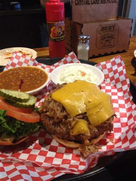 crystal lake rib house a great burger picture of crystal lake rib house crystal lake tripadvisor