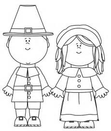 pilgrim color thanksgiving coloring pages