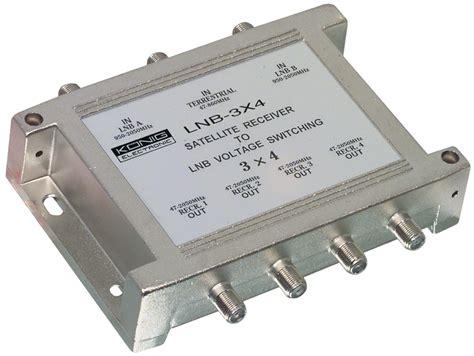 Multiswitch Lnb lnb 3x4 k 246 nig multiswitch 3 4 47 862 mhz 950 2050