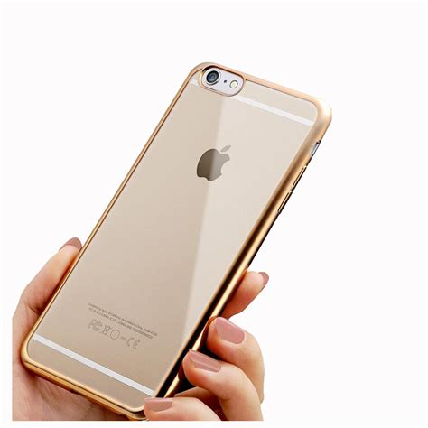 Iphone 7 Plus Casing List Chrome Tpu Soft Cover Casing chrome clear tpu soft for iphone 6 6s plus pink