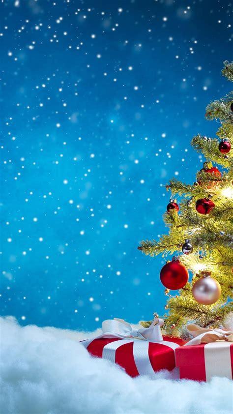 holidays christmas gifts christmas tree snow hd wallpaper  desktop background