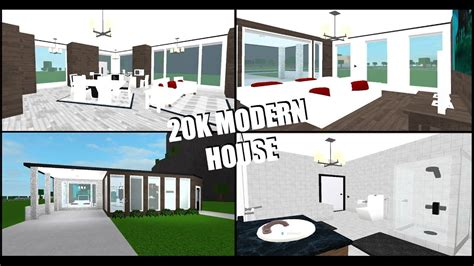 Second Floor House Plans by 20k Modern House Roblox Welcome To Bloxburg Budget