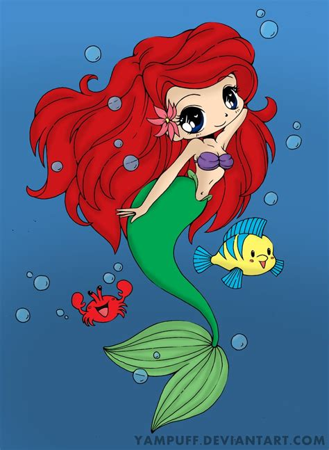chibi mermaid lineart by kaitoucoon on deviantart ariel the little mermaid chibi by kenzerooni on deviantart