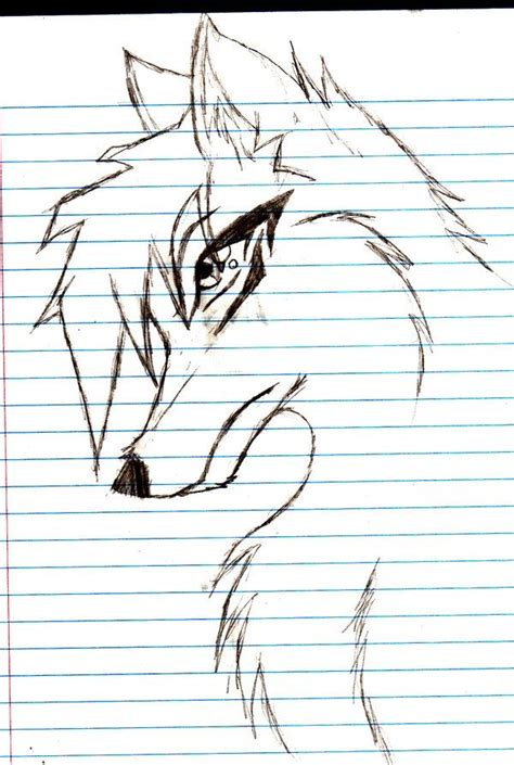 anime wolf drawings easy animated wolf drawings