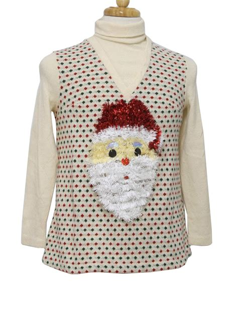 pattern ugly christmas sweater retro seventies womens ugly christmas sweater authentic