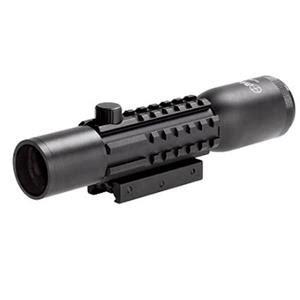 sun optics 4x28 tri rail tactical riflescope,illum mil dot