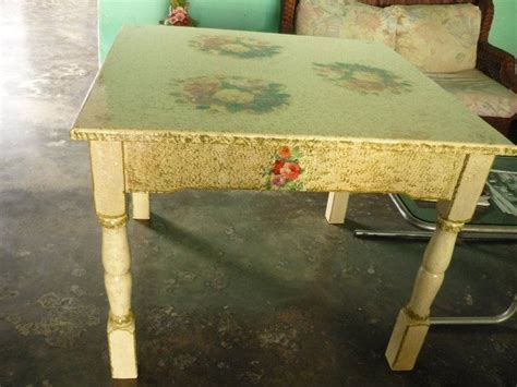 Decoupage Dining Room Table - decoupage dining room table small dining table decoupage