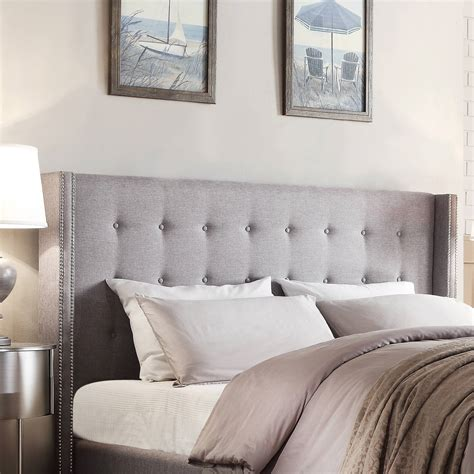 Gray Headboards by Grey Wingback Headboard Ic Cit Org