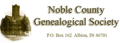 Noble County Indiana Records Ghost Towns By Noble County Genealogical Society Of Albion Indiana