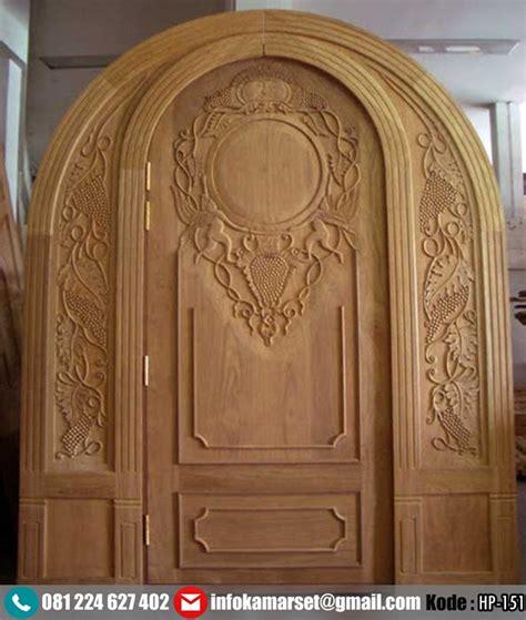 Hp Pintu pintu lengkung model ukir kayu jati hp 151 harga pintu