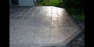 Decorative Cement Patio by Gallery Of Custom Decorative Stamped Concrete Patios