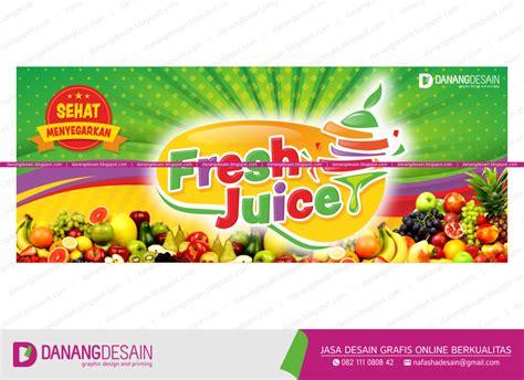 desain banner jus buah contoh desain spanduk banner juice sop buah contoh