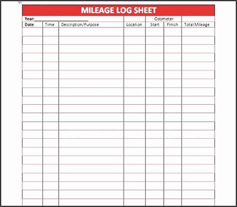 Printable Mileage Log 2017
