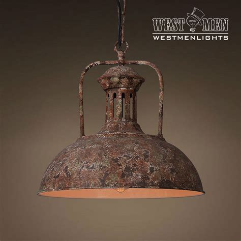 industrial rustic metal dome shade pendant light hanging