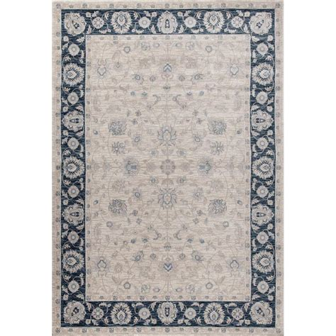 home world rugs world rug gallery dorsey floral framed blue 5 ft 3 in x 7 ft 3 in indoor area rug 2090