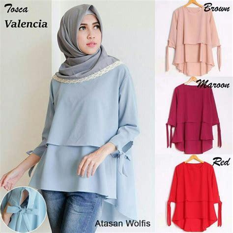 Blouse Muslim Wanita Tunik Ovie jual blouse atasan wanita blouse terbaru baju muslim blouse muslim di lapak