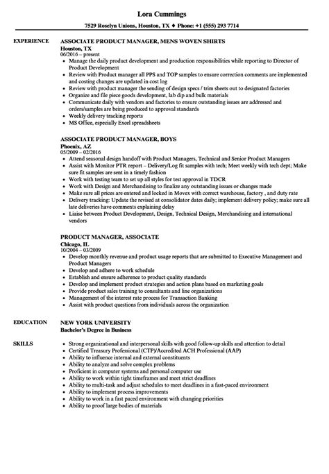 Associate Product Manager Sle Resume by Product Manager Associate Resume Sles Velvet