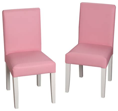 pale pink upholstered chair gift childrens white chair set with pink upholstered
