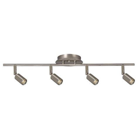 design house track lighting filament design hudson 4 light brushed nickel track
