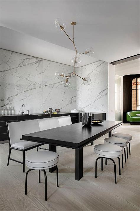 10 modern black and white dining room sets that will