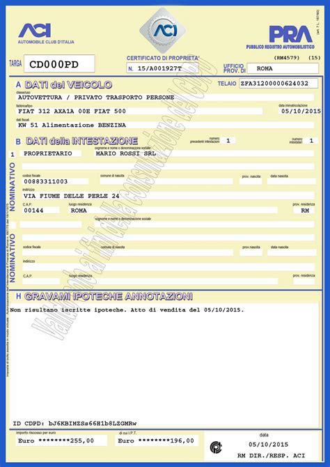 certificato di propriet 224 dal 5 ottobre sar 224 digitale