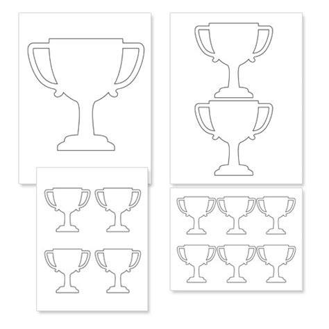trophy card template free printable trophy template printable treats vbs