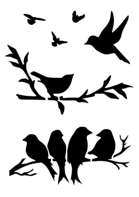 printable wall stencils birds birds stencil 3 craft fabric glass furniture wall art