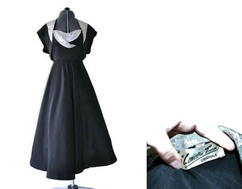 1950 s black dress by town size 6 just vintage