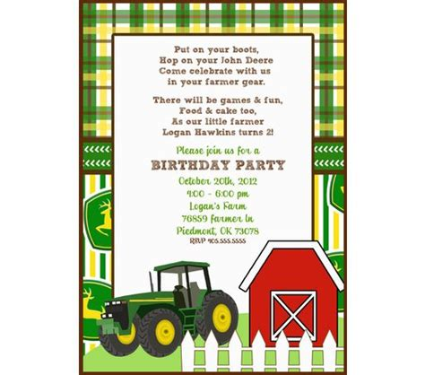 printable john deere birthday invitations free large john deere invitation templates john deere